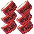 6 rollen plakband voorzichtig glas pakkettape 66 m x 48 mm in rood PP verpakkingstape pakketplakband lijmrol rood waarschuwin