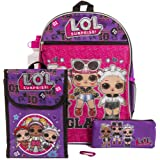 LOL Surprise Purple Back too School Essentials Set for Girls, Purple, Size 16""