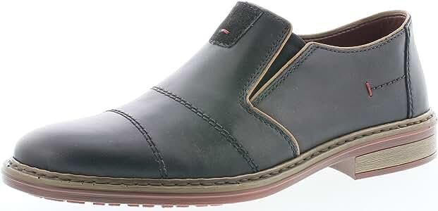 RIEKER SCHWARZE SLIPPER Halb Schuhe Damen 38 UK 5 Leder
