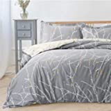 Bedsure Bedding Sets King Size - Printed Kingsize Duvet Cover Set Quilt Cover with 2 Pillowcases, Grey