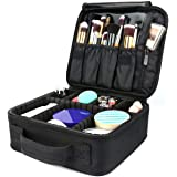 Travel Makeup Bag,Portable Travel Makeup Cosmetic Case Organizer Artist Storage Bag with Adjustable Dividers for Cosmetics Ma