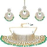 Shining Diva Fashion Latest Design Stylish Kundan Choker Wedding Party Wear Traditional Necklace Jewellery Set for Women