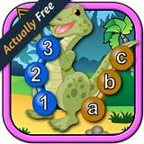 Dinosaure rejoindre les enfants et reliez les points Puzzles - Rex enseigne les formes de numéros d`ABC et de comptage pour les tout-petits et les jeunes enfants d`âge préscolaire âges 2 +