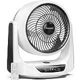 Pro Breeze 25 cm Turbo Ventilator mit automatischer Duo-Oszillation, 9 Lüftungsstufen, 4 Betriebsmodi, Timer, LED…