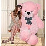 OSJS Toys 4 Feet Teddy Bear with Neck Bow - Pink(122cm)