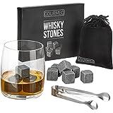 GOURMEO Pierres à Whisky (9 pièces) à base de glaçons réutilisables, Pierres à Whisky, Pierres de refroidissement