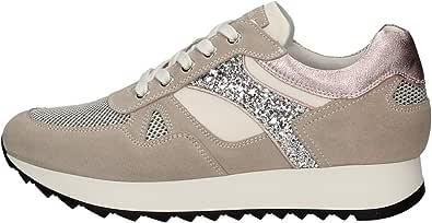Nero Giardini E010520D Sneakers Donna in Pelle, Camoscio E Tela