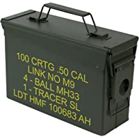 HMF 70010 Caisse de Munitions, Boîte à Munitions, US Army Box en Metal, 27,5 x 17,5 x 9,5 cm, vert