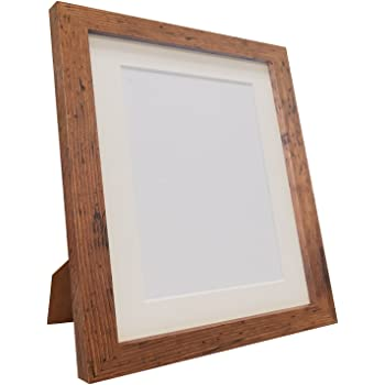 FRAMES BY POST Q7 Picture Photo Frame, Vintage Wood with Ivory Mount ...