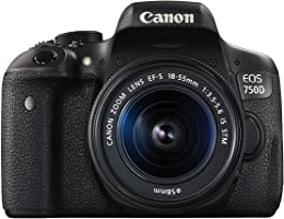 Canon EOS 750D - 24.2 MP, SLR Camera, Black, 18 - 55mm IS STM Kit