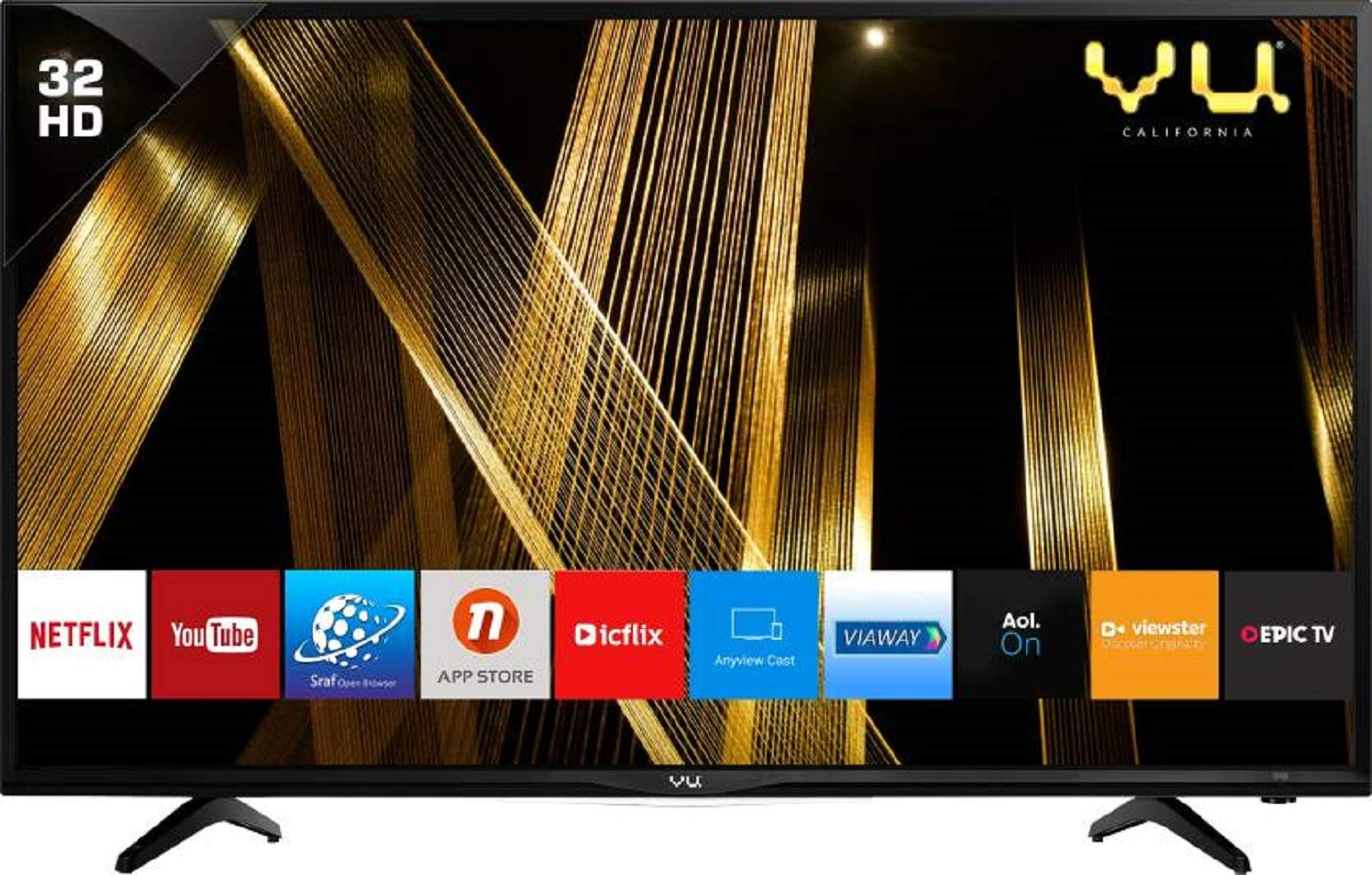 VU 80 cm (32 Inches) HD Ready Smart LED TV 32OA (Black) (2019 Model)