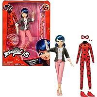 Bandai - Miraculous - Bambola con i suoi due abiti - Ladybug e Marinette - Bambola articolata da 26 cm con i suoi due…