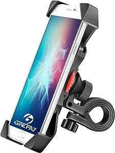 Grefay Bicicletta Supporto per Smartphone Universale Motociclo Manubrio Cellulare Titolare per Monopattino Elettrico con 360 Rotazione per 3,5 - 6,5 Pollici Smartphone