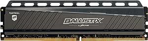Ballistix Tactical BLT8G4D26AFTA 8Go Mémoire (DDR4, 2666 MT/s, PC4-21300, DR x8, DIMM, 288-Pin)