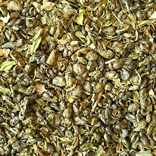 Grüntee aromatisiert Marrakech Mint 100g mit Pfefferminz-Geschmack Nachfüllpack Minztee Marokko Lose (Marokko-minze-grüner Tee)