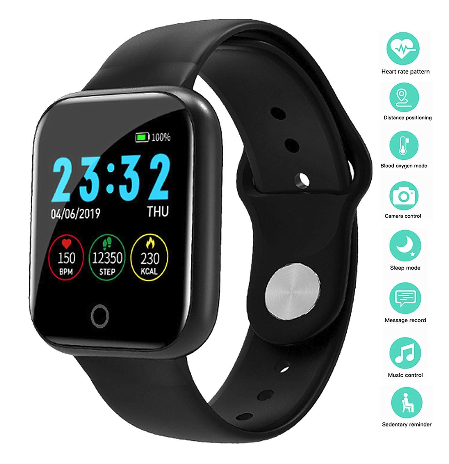 linyingdian Smartwatch, Reloj Inteligente Impermeable IP67 Pulsera de Actividad Inteligente con Monitor de Sueño Pulsómetros Podómetro Contador de Caloría, para Hombre Mujer niños 1