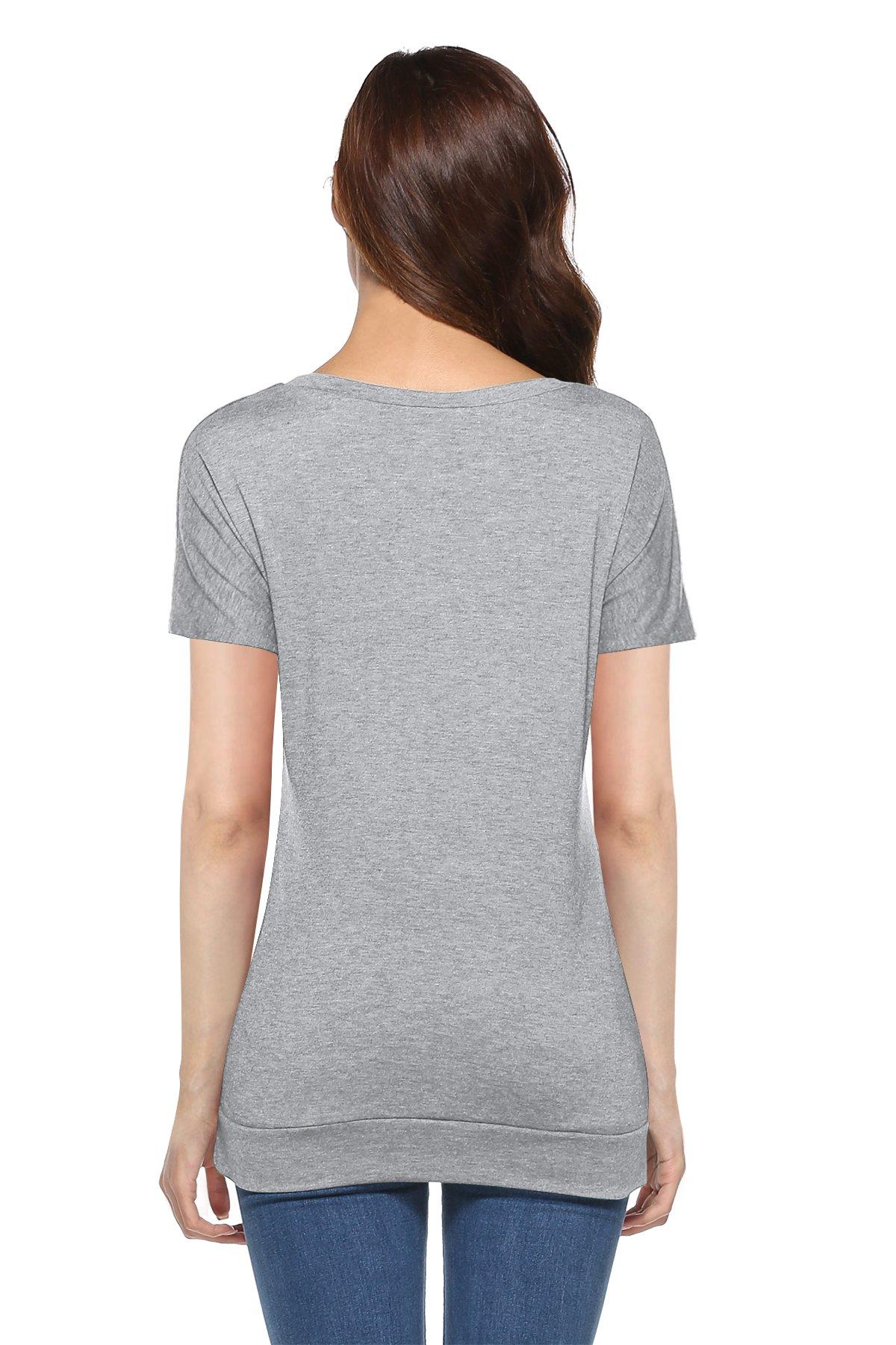 Mujer Camiseta T-Shirt Mini Vestido Verano Encaje Dobladillo Túnica Tops Estival de Manga Corta Casual Ropa Tamaño…