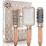 Set Spazzole Oro Rosa - Set Regalo professionale adatto a tutti i capelli, Lily England