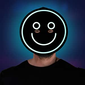 Morph Urlando Maschera Illuminare Angelo Emoticon Demone LED di Halloween per Adulti