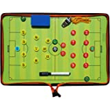 Football Tactics Board Portable Football Coaching Marker Board with Magnets, Whiteboard Marker, Eraser, Whistle
