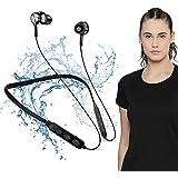 Bluetooth 5.0 Wireless Headphones with Hi-Fi Stereo Sound, 8Hrs Playtime, Lightweight Ergonomic Neckband Earphone, Sweat-Resi