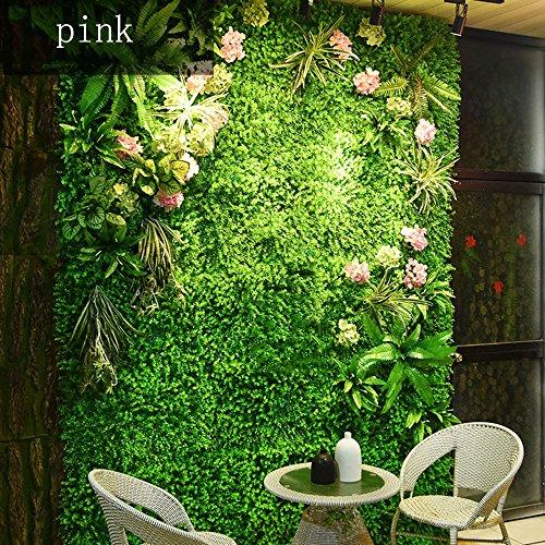 RKY Hintergrundwand - Kunstpflanze Wand, Hochzeit Blumen Wand, Dreidimensionale Bildschirm Dach Wanddekoration (4 Stile zur Auswahl) @ (Farbe : 01)