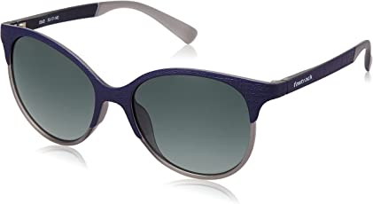 Fastrack UV Protected Round Women's Sunglasses - (P335GR2F|57|Gradient Dark Green Color)