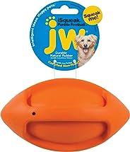 JW Pet Company iSqueak Funble Football Dog Toy, Medium (Colors Vary)