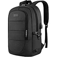 Anti-Theft Laptop Backpack,15.6-17.3 Inch Business Travel Laptop Rucksack Bag with USB Charging Port with Lock, Slim…