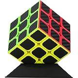 U UZOPI Puzzle 3D, 3x3x3 Speed Cube Magique Cube de Vitesse en Fibre de Carbone -Jeu de Société Adulte