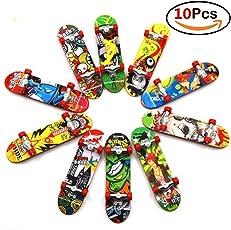 Fancyku 10 PCS Finger Skateboard Mini Fingerboards with Non-Slip Pad
