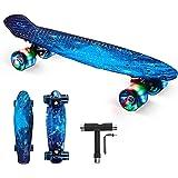 """SGODD Skateboard Bambini, 22""""x6"""" Mini Cruiser Skateboard Completa Retrò con Cuscinetti a Sfera ABEC-11, Skateboard per Princi"""
