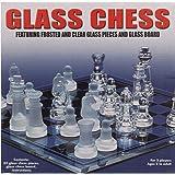 شطرنج قطع زجاج ولوحه زجاج حجم كبير