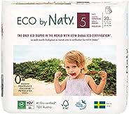 Eco by Naty, Premium-Bio‑Höschenwindeln, Größe 5, 80 Stück, 12–18 kg, aus pflanzenbasierten Materialien, frei von gefährliche