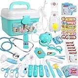 Anpro 46 pcs Kit Maletin de Doctor y Enfermera,Juegos de Niños,Kit de Dentista con Estetoscopio y Abrigo,Regalo para Niños en