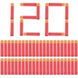 Yosoo 120Pcs mousse recharge recharge doux fléchettes balle Arme-jouet pour Nerf N-strike Centurion Mega série élite Blasters (120pcs)