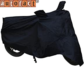 Autofact Black Bike Cover for Honda DIO DLX (Dust Proof, Scratch Proof, Mirror Pockets, Heavy Buckle)