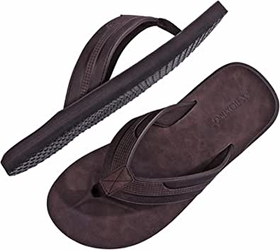 ARRIGO BELLO Infradito Uomo Ciabatte Pelle Avanzata Sandali Estive Morbido Pantofole Spiaggia Piscina All'aperto Taglia 40-46