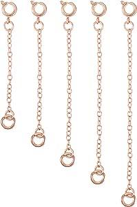 Mudder - Set di 5 estensori per collane, bracciali, gioielli fai da te