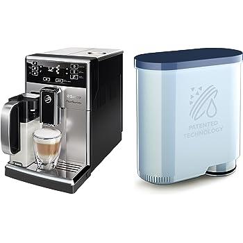 1 Machine à Café Automatique Saeco HD8927/01 PicoBaristo Inox/Noir et Carafe à lait + 3 AquaClean filtres Philips CA6903/00 Saeco