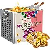 Machine électrique à rouler la crème glacée au yogourt frit,machine à rouler la crème glacée frite Machine à rouler la glace
