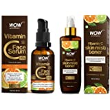 WOW Skin Science Vitamin C Serum - Skin Clearing Serum - Brightening Anti-Aging Skin Repair, Superc & WOW Skin Science Vitami