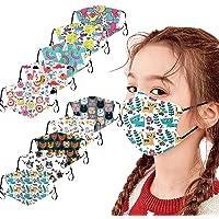 5/10 Stück Kinder Mundschutz Multifunktionstuch 3D Cartoon Druck Maske Animal Print Atmungsaktive Baumwolle Stoffmaske…