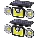 Luce Solare Led Esterno,Ltteny Lampada Solare Luci Esterno Energia Solare Impermeabile IP65 Faretti Solari con sensore di mov