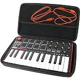 Khanka étui de Voyage Housse pour AKAI Pro MPK mini mkII Clavier Maître MIDI en EVA dur (Noir)