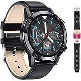 Microwear Męski smartwatch, prezent dla mężczyzn, wodoszczelny zegarek sportowy, kolorowy wyświetlacz dotykowy, zegarek na rę