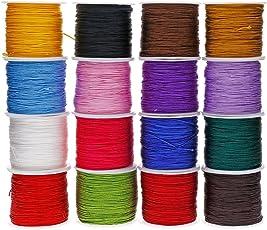 HitTime 0.8mm 45M/Roll Nylon Cord Thread Chinese Knot Macrame Rattail Bracelet Braided String