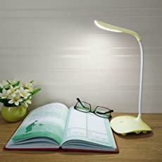Kurtzy Flexible Rechargeable LED Table Lamp with Touch Sensor(Yellow)