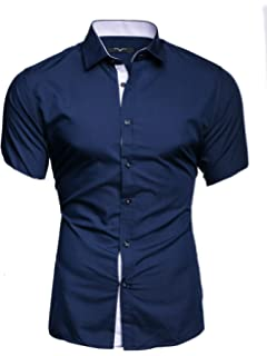 Herren Hemd kariert Herrenhemd Kurzarm Slim-Fit Party Büro Sommer Shirt L5.16