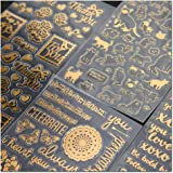Briefpapier Aufkleber selbstklebend für Scrapbooking Tagebuch Planer Handy Album Notebook Bullet Journal Party Tasche…